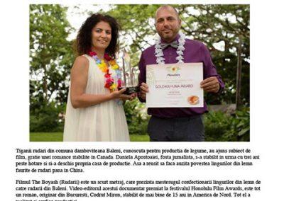 Ziarul Adevarul_locale_Targoviste_lingura-lemn-faurita-rudarii-baleni-ajuns-subiect-film-pelicula-castigat-mai-multe-premii-internationale-p1