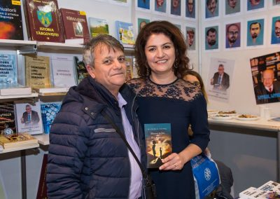 Virgil Voinescu, Journalist and Daniela Cupse Apostoaei, the Author of the Blue Embrace poetry book
