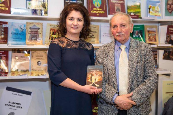 Daniela Cupse Apostoaei, the Author of the Blue Embrace - Albastru in Doi poetry book with George Coanda, poet and writer