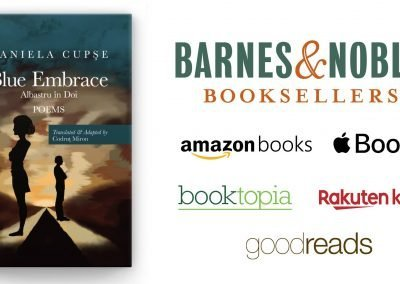 Blue Embrace - Albastru in Doi by Daniela Cupse Apostoaei on Amazon, Barnes and Noble, Apple Books, booktopia, Rakuten kobo, goodreads