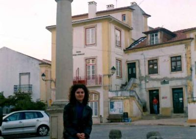 Daniela Apostoaei in a Portuguese little plaza