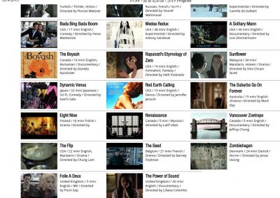 List of movies selected at PUFF 2015 (fragment)