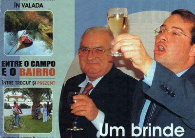 Mircea Simion, Mayor of Pucioasa Romania, and Paolo Caldas, Mayor of Cartaxo Portugal, 2003