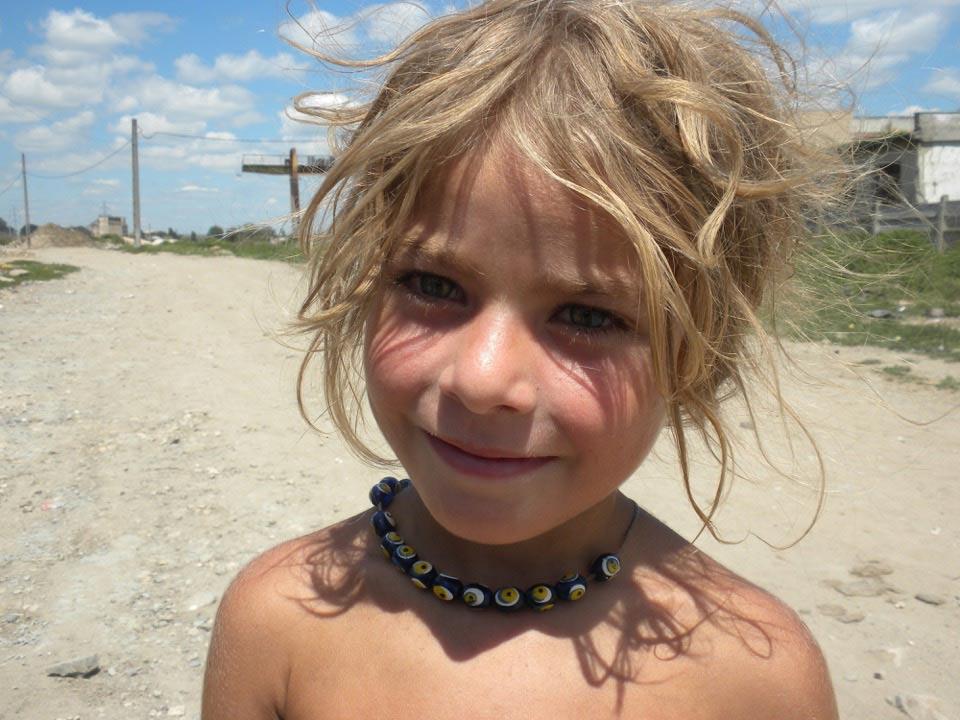 Child in Medgidia, Romania