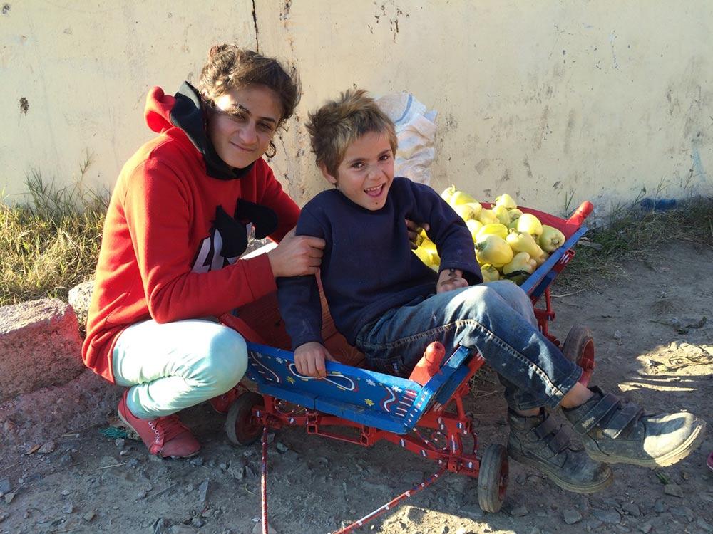 Children in Medgidia, Romania