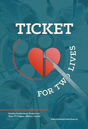 Official Poster of Ticket for Two Lives Documentary  2015, Canada, Director Daniela Apostoaei