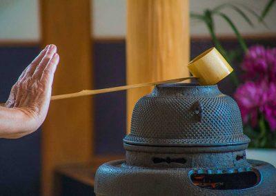 Japanese Tea Pot, Traditional Japanese tea making demonstration at the Tea House, Nikka Yuko Gardens, Lethbridge, AB, Canada