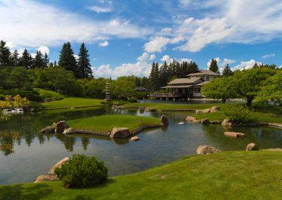 Tea House at Nikka Yuko Japanese Gardens, Lethbridge, Calgary, Alberta,Photography Codrut Miron