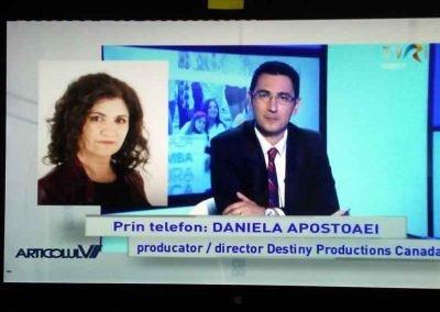 Daniela Cupse Apostoaei at TVRi, Articolul VI show