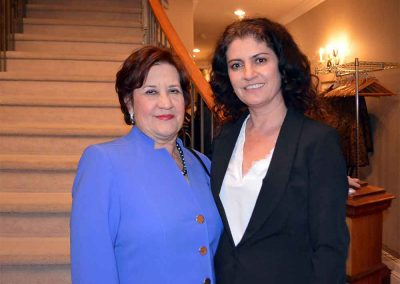 Ms Judith Romanchuk, Honorary Consul of Finland (left) and Daniela Apostoaei (right)