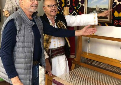 Daryl Toma and Les Lutic at the Romanian Pioneers Museum in Boian, Alberta Canada