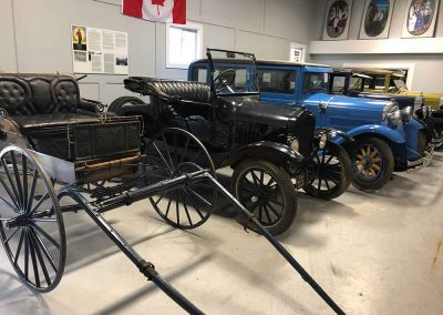 Car Artifacts at the Romanian Pioneers Museum in Boian, Alberta Canada