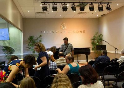 Audience at the Steinway Piano Gallery, Calgary, Alberta, Canada