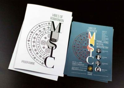 Vibes of Romanian Music, Programme and Postcard