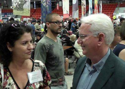 Daniela Apostoaei interview at the Japanese Omatsuri Festival, Calgary, Alberta, Canada
