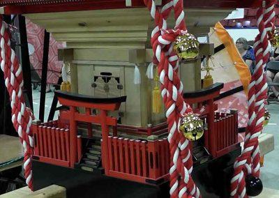 Omikoshi portable Shrine at the Omatsuri Japanese Festival, Calgary Alberta Canada