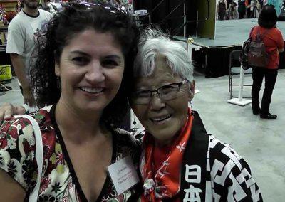 Daniela Apostoaei and a dear Japanese friend at the Omatsuri Japanese Festival, Calgary Alberta Canada