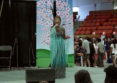 Voice performer at the Omatsuri Japanese Festival, Calgary Alberta Canada