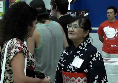 Daniela Apostoaei and Joanne Planidin. Ex-President of Calgary Japanese Community Association