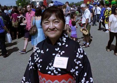 Joanne Planidin. Ex-President of Calgary Japanese Community Association