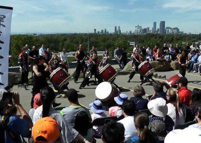 Japanese drummers at the Omatsuri Festival in Calgary