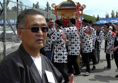 Ted Wada, President of Calgary Japanese Community Association, Organizer of the Omatsuri Festival in Calgary, Alberta, Canada