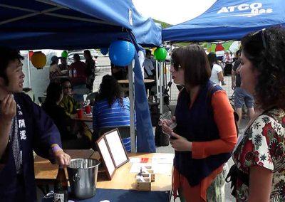 Tasting Sake at the Omatsuri Festival in Calgary
