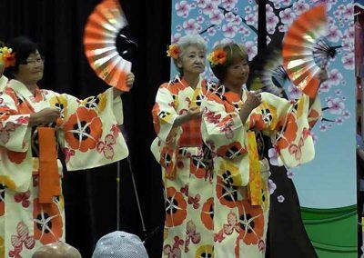 Japanese Traditional Dance at the Omatsuri Festival in Calgary