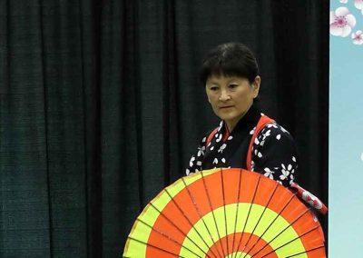 Japanese Traditional Dance Performer at the Omatsuri Festival in Calgary