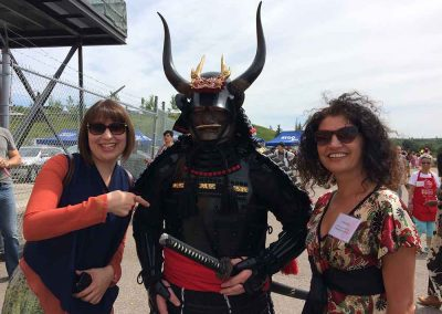 Ella Clarens and Daniela Cupse Apostoaei at the Japanese Omatsuri Festival, Calgary, Alberta, Canada