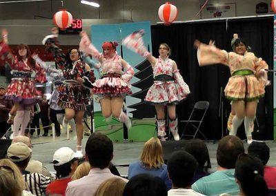 Kawaii girls dance at the Omatsuri Festival in Calgary, Alberta, Canada