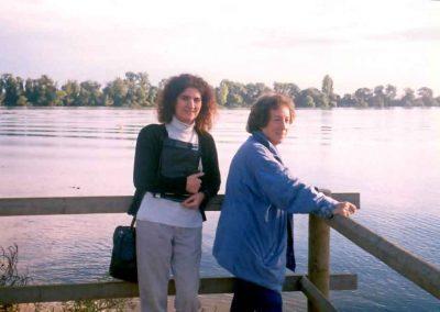 Daniela Apostoaei and her guide on the Tejo River, Portugal, 2003